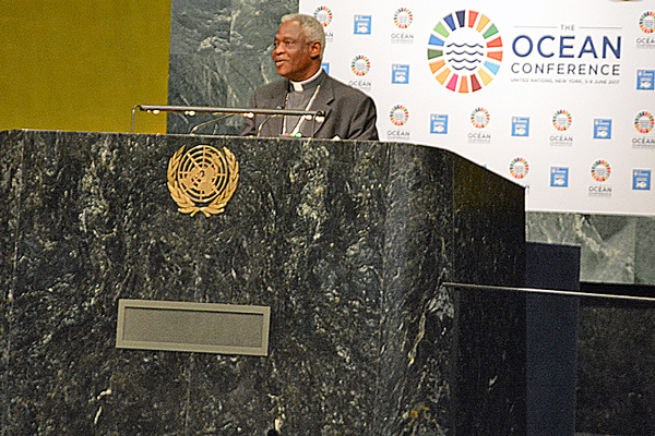 Cardinal Turkson at Plenary Session of the Ocean Conference
